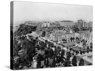 Overview of Riverside Drive and Riverside Park-Irving Underhill-Stretched Canvas Print