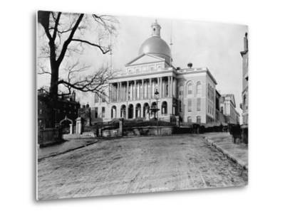 Massachusetts State House-N.L. Stebbins-Metal Print