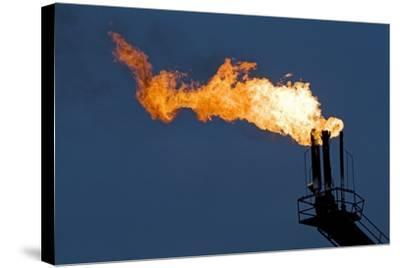 Natural Gas Flare-Paul Souders-Stretched Canvas Print