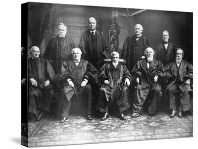 Portrait of the 1888 Supreme Court-C.M. Bell-Stretched Canvas Print