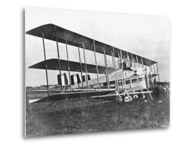 Passengers Standing on Middle Wing of Triplane--Metal Print