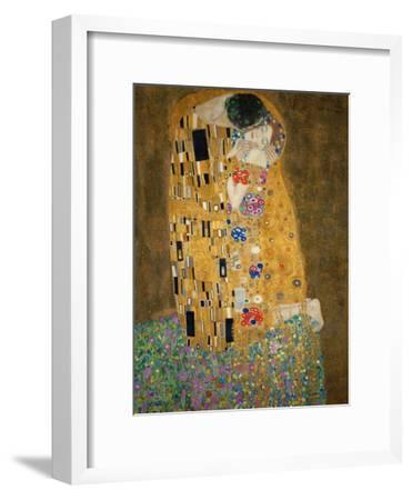 The Kiss, c.1907-Gustav Klimt-Framed Premium Giclee Print