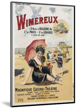 Wimereux Travel Poster-Henri Gray-Mounted Giclee Print