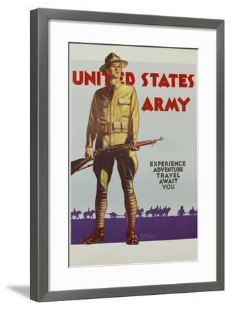 United States Army Poster-Tom Woodburn-Framed Giclee Print