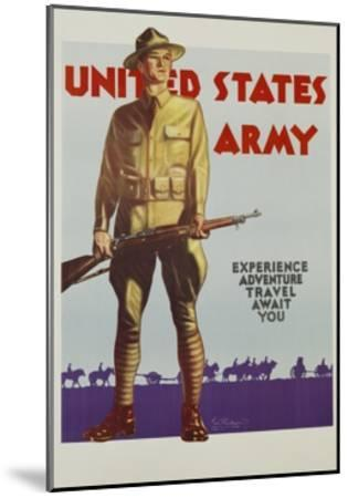 United States Army Poster-Tom Woodburn-Mounted Giclee Print