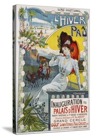 L'Hiver a Pau Poster-Vincent Lorant-Heilbronn-Stretched Canvas Print