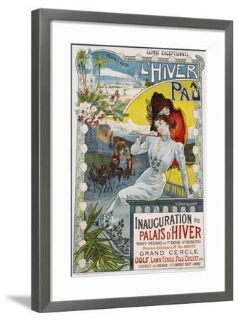 L'Hiver a Pau Poster-Vincent Lorant-Heilbronn-Framed Giclee Print