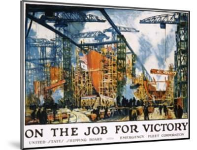 On the Job for Victory Poster-Jonas Lie-Mounted Giclee Print