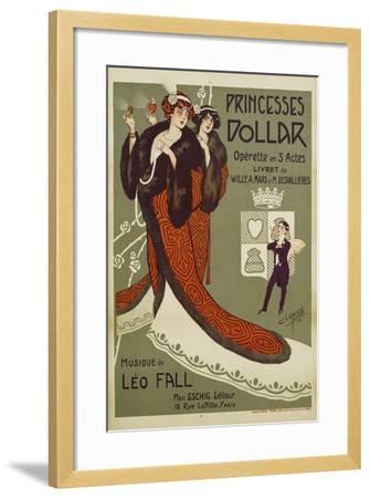 Princesses Dollar Poster-Clerice Freres-Framed Giclee Print