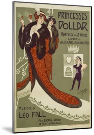Princesses Dollar Poster-Clerice Freres-Mounted Giclee Print