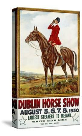Dublin Horse Show Poster-Olive Whitmore-Stretched Canvas Print
