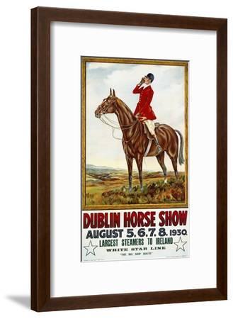 Dublin Horse Show Poster-Olive Whitmore-Framed Giclee Print