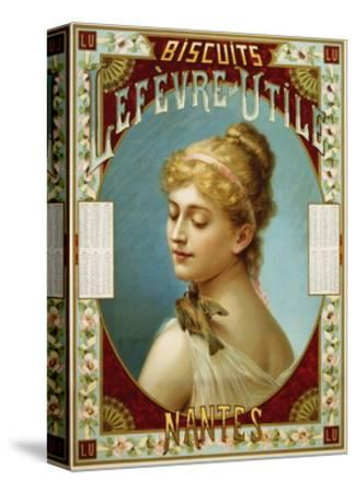 Biscuits Lefevre-Utile Poster-A.J. Chantron-Stretched Canvas Print