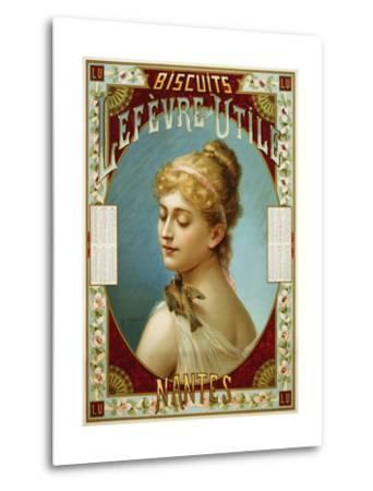 Biscuits Lefevre-Utile Poster-A.J. Chantron-Metal Print