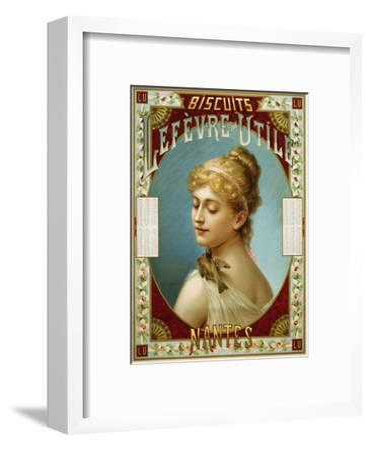 Biscuits Lefevre-Utile Poster-A.J. Chantron-Framed Giclee Print