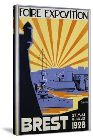 Foire Exposition Brest Poster-C. Lautrou-Stretched Canvas Print