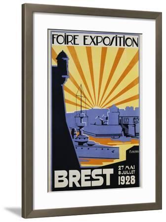 Foire Exposition Brest Poster-C. Lautrou-Framed Giclee Print