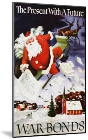 The Present with a Future War Bonds Poster-Adolf Dehn-Mounted Giclee Print