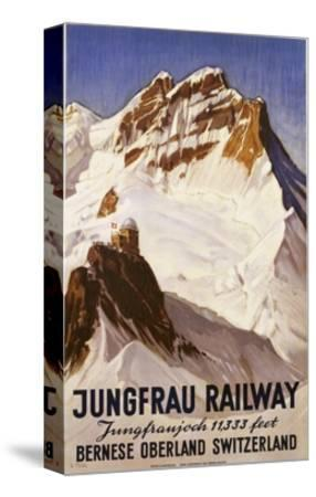 Jungfrau Railway Poster-E. Hovel-Stretched Canvas Print