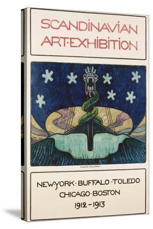 Scandinavian Art Exhibition: 1912-1913 Poster-Gunnar August Hallstrom-Stretched Canvas Print