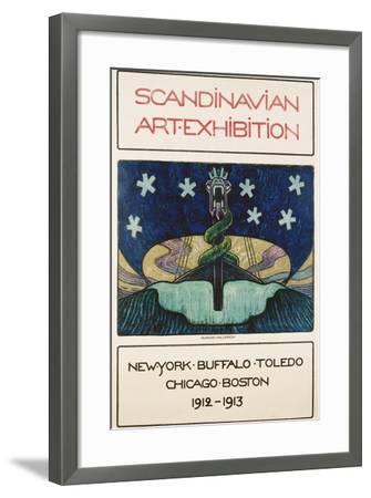Scandinavian Art Exhibition: 1912-1913 Poster-Gunnar August Hallstrom-Framed Giclee Print