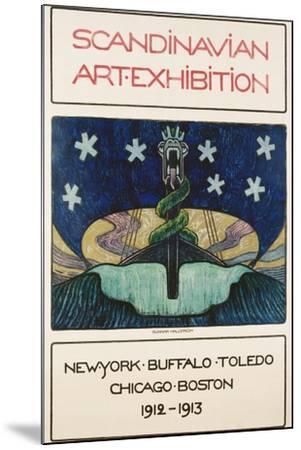 Scandinavian Art Exhibition: 1912-1913 Poster-Gunnar August Hallstrom-Mounted Giclee Print