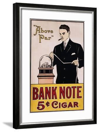 Bank Note 5 Cent Cigar Poster--Framed Giclee Print