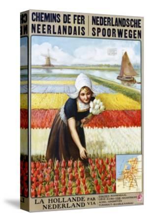 Chemins De Fer Neerlandais Travel Poster--Stretched Canvas Print