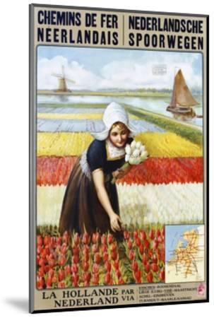 Chemins De Fer Neerlandais Travel Poster--Mounted Giclee Print