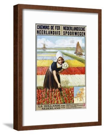 Chemins De Fer Neerlandais Travel Poster--Framed Giclee Print