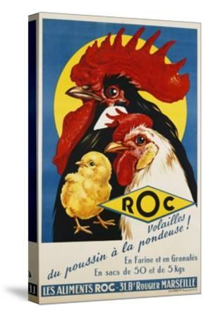 Roc Les Aliments Chicken Feed Poster--Stretched Canvas Print