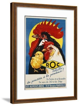 Roc Les Aliments Chicken Feed Poster--Framed Giclee Print