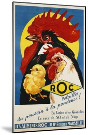 Roc Les Aliments Chicken Feed Poster--Mounted Giclee Print
