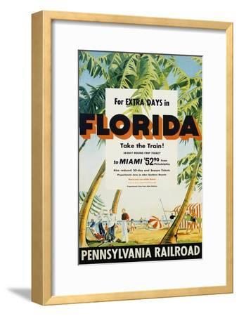 Florida, Pennsylvania Railroad Poster--Framed Giclee Print
