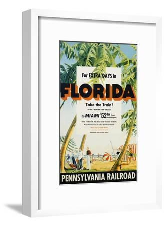 Florida, Pennsylvania Railroad Poster--Framed Giclee Print