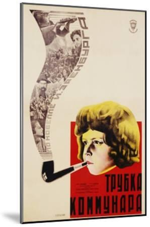 Russian Movie Poster Depicting a Child Smoking a Pipe--Mounted Giclee Print