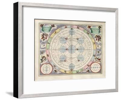 Plate 18 from Harmonia Macrocosmica-Andreas Cellarius-Framed Giclee Print