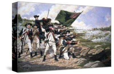 Battle of Long Island--Stretched Canvas Print