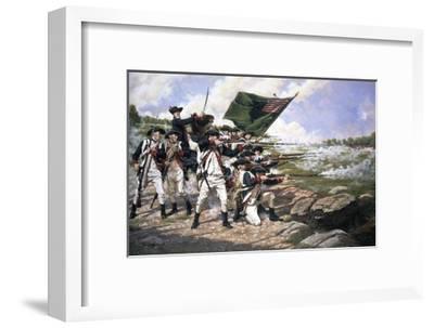 Battle of Long Island--Framed Giclee Print