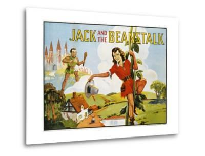 Jack and the Beanstalk Color Print--Metal Print