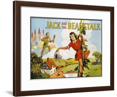 Jack and the Beanstalk Color Print--Framed Giclee Print