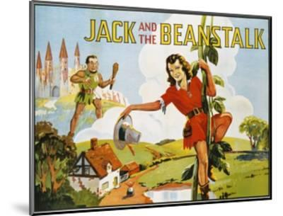 Jack and the Beanstalk Color Print--Mounted Giclee Print