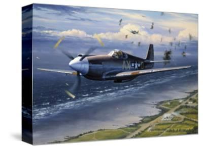 American Planes on Reconnaissance Mission over Normandy--Stretched Canvas Print
