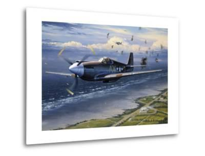 American Planes on Reconnaissance Mission over Normandy--Metal Print
