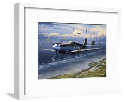 American Planes on Reconnaissance Mission over Normandy--Framed Giclee Print