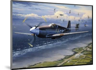 American Planes on Reconnaissance Mission over Normandy--Mounted Giclee Print