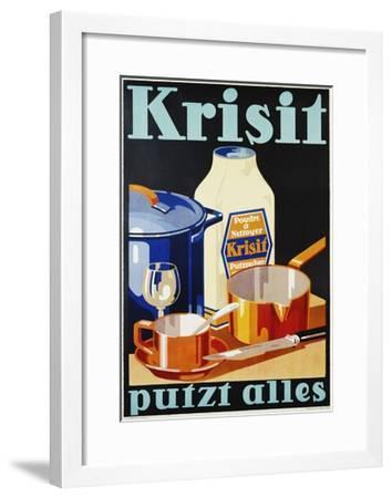 Krisit - Putzt Alles Poster--Framed Giclee Print