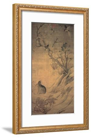Magpies and Hare--Framed Giclee Print