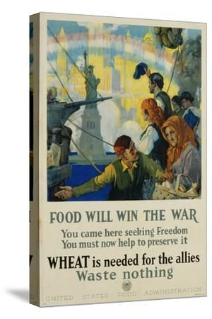 Food Will Win the War Poster-Charles Edward Chambers-Stretched Canvas Print