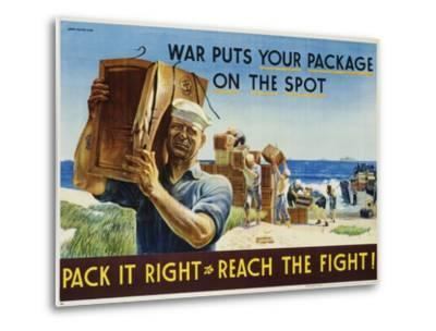 Pack it Right to Reach the Fight! Poster-John Falter-Metal Print